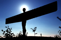 Anthony Gormley's 'Angel of the North', Gateshead, Tyne and Wear.