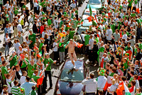 World Cup 2002 - after Ireland's draw with Germany, Shipquay Street, Derry